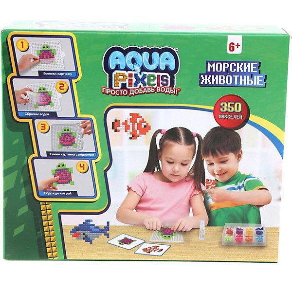 Lucky Набор для творчества 1Toy Aqua pixels Морские животные, 350 пикселей