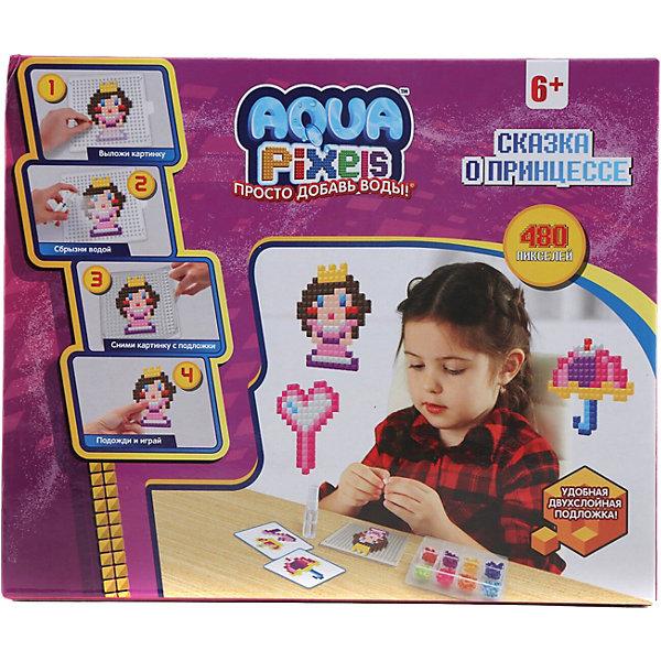 Lucky Набор для творчества 1Toy Aqua pixels Сказка о принцессе, 480 пикселей lucky набор для творчества 1toy aqua pixels набор принцессы 600 пикселей