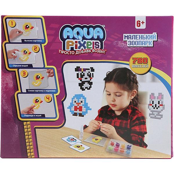 Купить Набор для творчества 1Toy Aqua pixels Маленький зоопарк, 780 пикселей, Китай, разноцветный, Унисекс