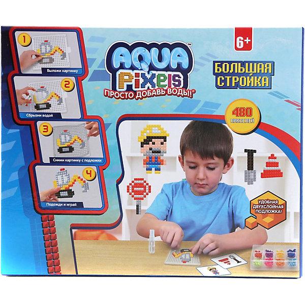 Lucky Набор для творчества 1Toy Aqua pixels Большая стройка, 480 пикселей lucky набор для творчества 1toy aqua pixels набор принцессы 600 пикселей