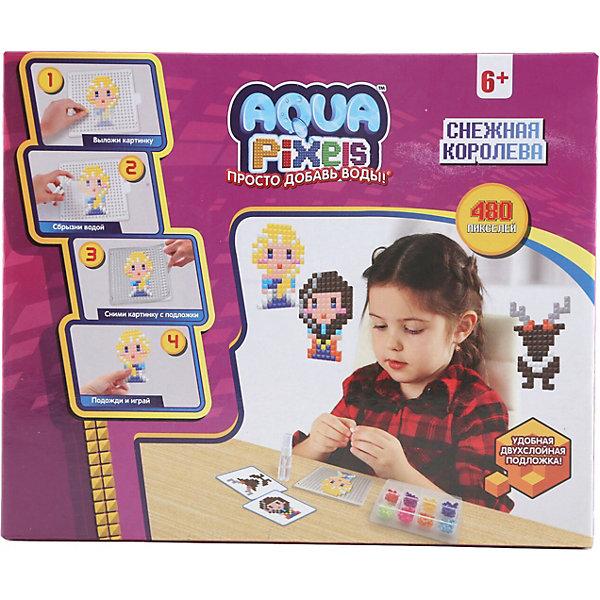 Lucky Набор для творчества 1Toy Aqua pixels Снежная королева, 480 пикселей lucky набор для творчества 1toy aqua pixels набор принцессы 600 пикселей