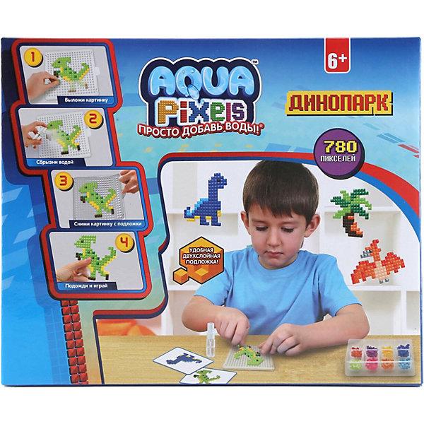 Lucky Набор для творчества 1Toy Aqua pixels Динопарк, 780 пикселей