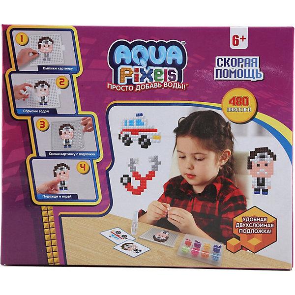 Lucky Набор для творчества 1Toy Aqua pixels Скорая помощь, 480 пикселей lucky набор для творчества 1toy aqua pixels набор принцессы 600 пикселей
