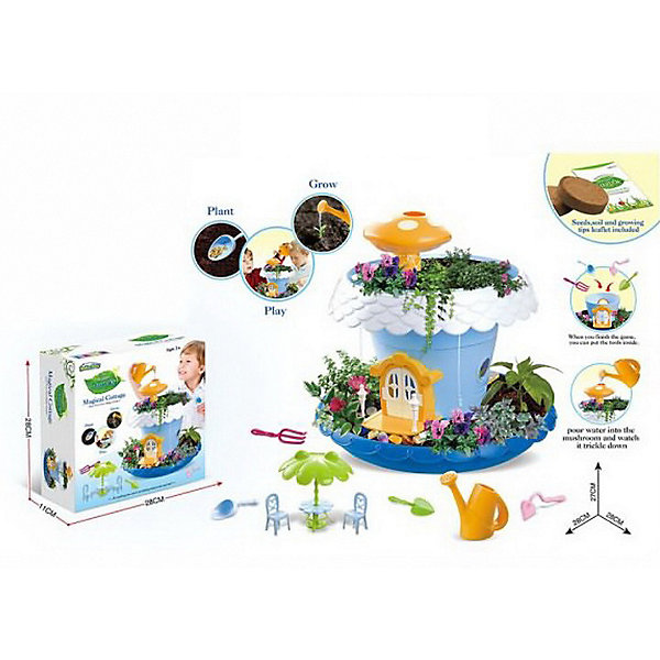 Junfa Toys Игровой набор Коттедж для кукол, синий