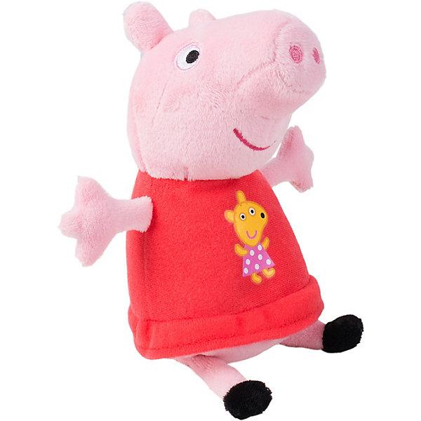 Купить Мягкая игрушка Росмэн Свинка Пеппа Пеппа с игрушкой 20 см, озвученная, Китай, блекло-розовый, Женский