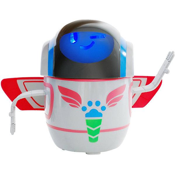 Интерактивный робот Росмэн Герои в масках (свет, звук, движение)Роботы-игрушки<br>Характеристики:<br><br>• материал: пластик<br>• в комплекте: робот<br>• любимый герой: Герои в масках<br>• персонаж: робот злодея Ромео<br>• тип батареек: 4хАА<br>• размер робота: 20х13х26 см<br>• упаковка: картонная коробка открытого типа<br>• вес упаковки: 960 гр<br>• размер упаковки: 31,2х15,5х23 см<br>• страна бренда: Россия<br><br>Робота изобрёл главный злодей мультфильма Ромео. Но потом робот встал на сторону добра и примкнул к героям в маске. У него два режима игры: полный и пробный. В пробном режиме нажав на голову можно увидеть, как выражение лица меняется на другое, всего имеется три варианта. Чтобы перейти в полный режим, нужно включить кнопку в положение «ON». После этого при нажатии будут не только меняться эмоции, он начнёт двигаться и вращаться, издавая забавные звуки. За спиной игрушки крылышки, а руки можно сгибать. После простоя в течении 15 секунд уходит в спящий режим. Выполнен из качественного и безопасного пластика.
