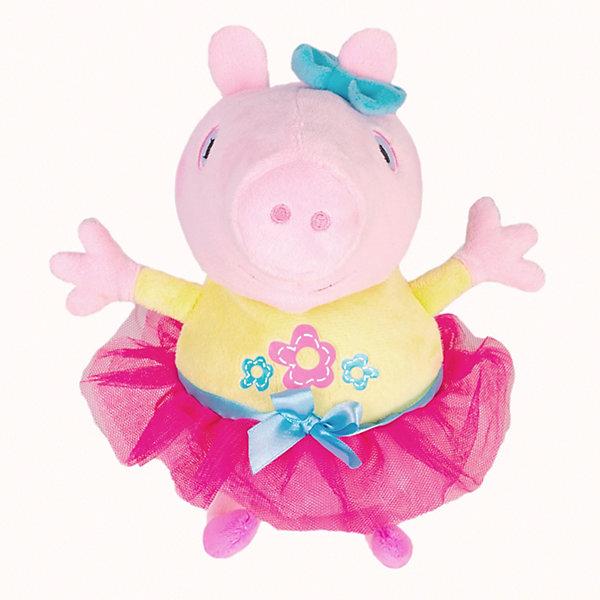 Купить Мягкая игрушка Росмэн Свинка Пеппа Пеппа играет в прятки 25 см, озвученная, Китай, блекло-розовый, Женский