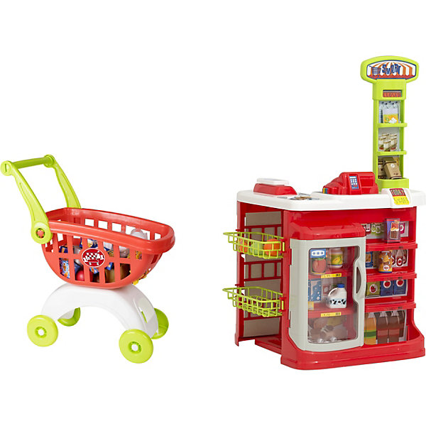HTI Игровой набор HTI Smart Супермаркет с тележкой игровой супермаркет звуковой с тележкой 17 предметов