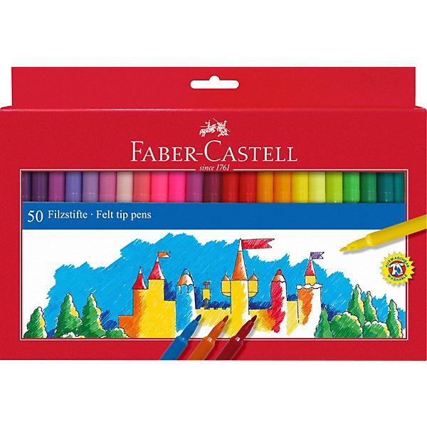фломастеры faber castell connector 60цв смываемые соединяемые колпачки пластик уп европодв Faber-Castell Фломастеры Faber-Castell, 50 цветов, смываемые