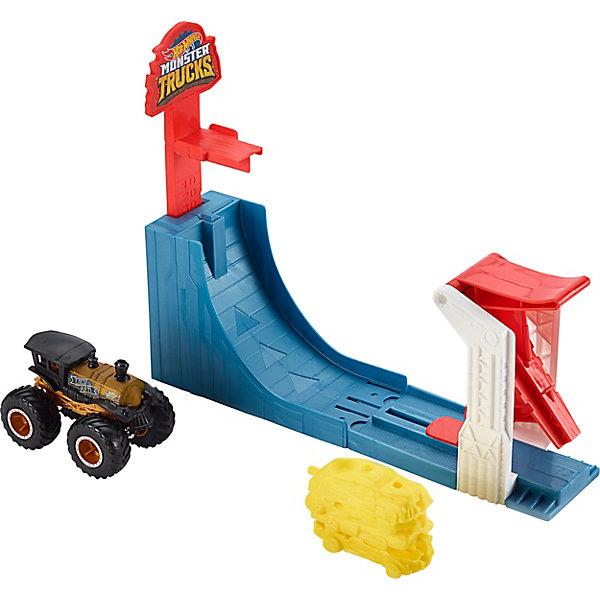 Mattel Автотрек Hot Wheels Monster Trucks Поединок в воздухе все цены