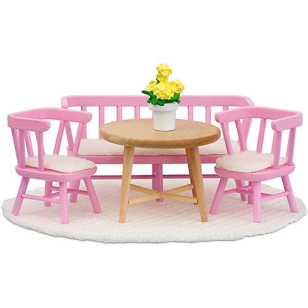 Lundby Мебель для домика Смоланд Обеденный уголок, розовый