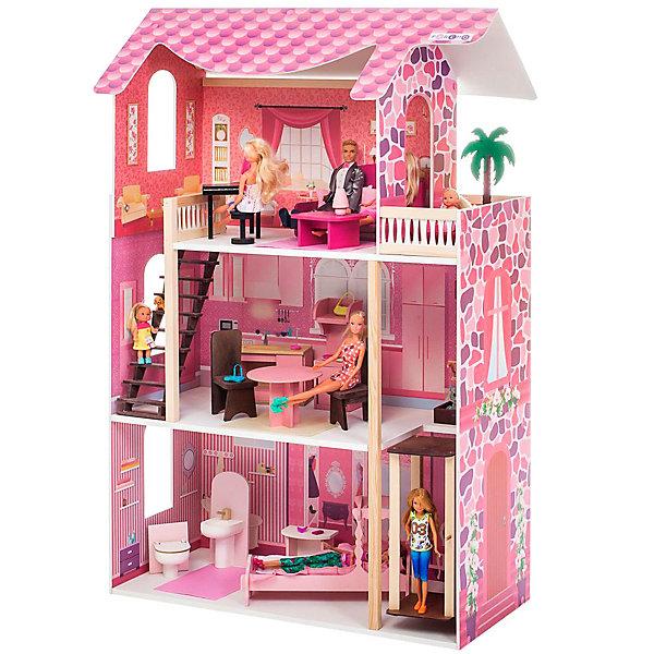 Купить Кукольный домик Paremo Монте-Роза , с мебелью, Россия, разноцветный, Женский