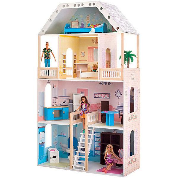 Купить Кукольный домик Paremo Поместье Риверсайд , с мебелью, Россия, разноцветный, Женский