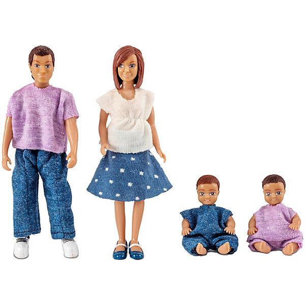 Lundby Куклы для домика Lundby Семья с двумя малышами goki куклы семья медведей goki