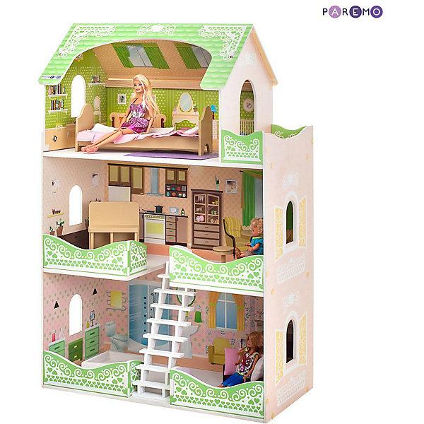 Купить Кукольный домик Paremo Луиза Виф , с мебелью, Россия, разноцветный, Женский