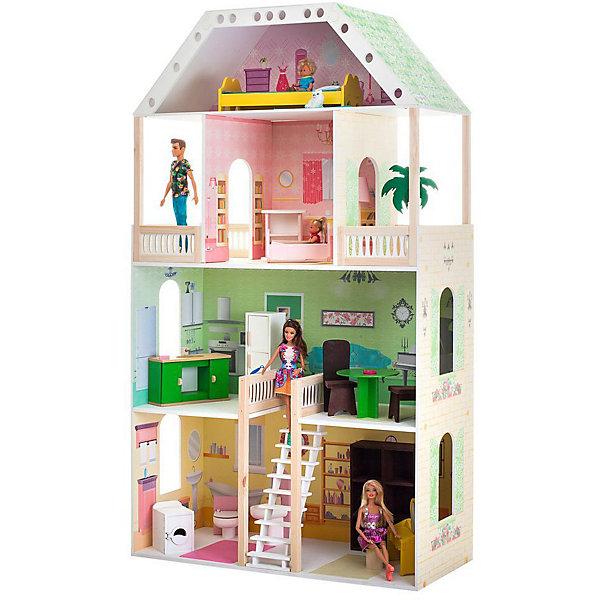 Купить Кукольный домик Paremo Поместье Шервуд , с мебелью, Россия, разноцветный, Женский