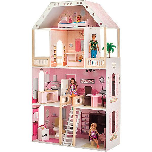 Купить Кукольный домик Paremo Поместье Монтевиль , с мебелью, Россия, разноцветный, Женский