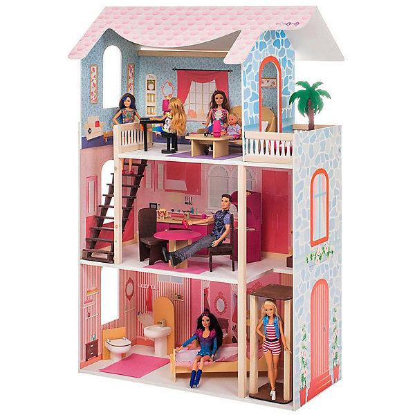 Купить Кукольный домик Paremo Эмилия-Романья , с мебелью, Россия, разноцветный, Женский