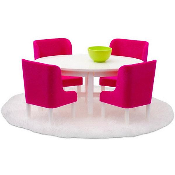"""Lundby Мебель для домика Lundby """"Смоланд"""" Обеденная группа в малиновых тонах"""