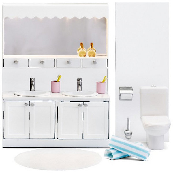 Фото - Lundby Мебель для домика Lundby Смоланд Ванная с двумя раковинами аксессуары для домика lundby смоланд батут с машинкой