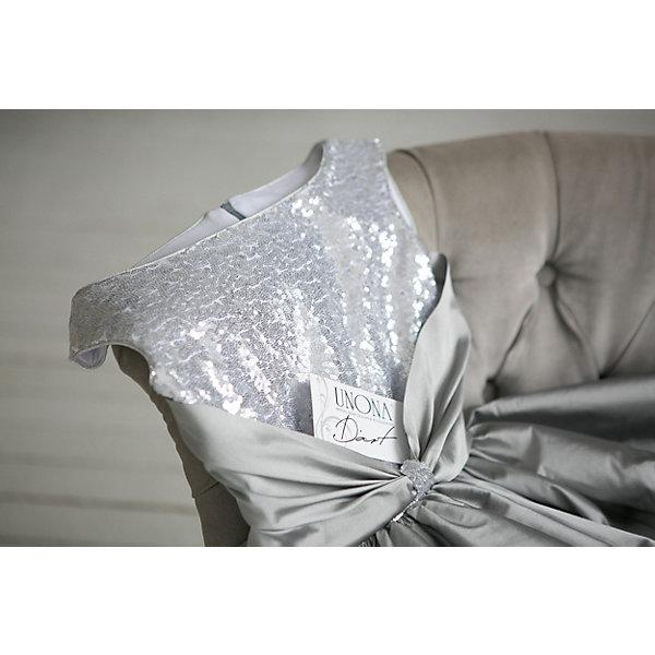 Unona Платье Unona для девочки новая мода горячей продажи женщин просто случайные o neck половина регулярных рукав природных план платье длиной до колен