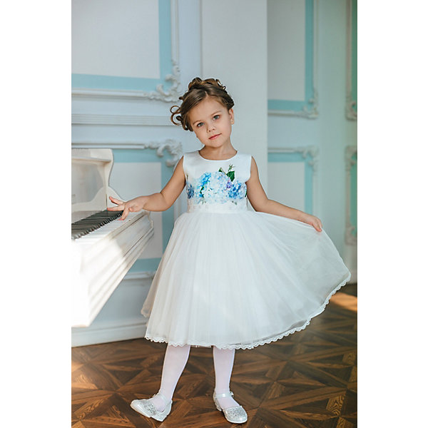 Unona Платье Unona для девочки водолазка для девочки nota bene цвет молочный cjr27035 17 размер 128