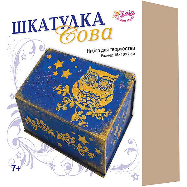 Купить Набор для творчества Santa Lucia Шкатулка Сова , Россия, разноцветный, Унисекс