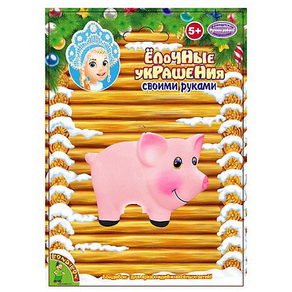 Bondibon Набор для творчества Новогодние украшения Свинья