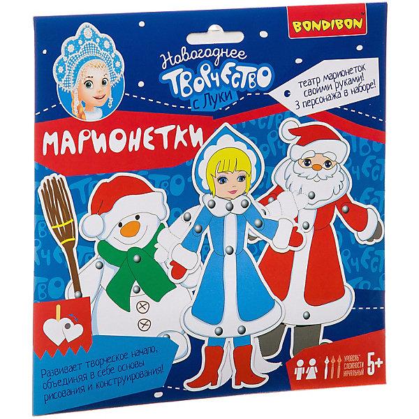 Купить Набор для творчества Bondibon Марионетки Дед Мороз, Снегурочка, Снеговик, Китай, разноцветный, Унисекс