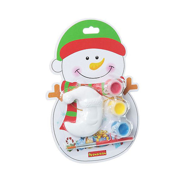 Купить Набор для творчества Bondibon Ёлочные украшения Снеговик, Китай, разноцветный, Унисекс