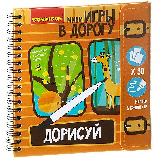 Bondibon Развивающая дорожная игра Дорисуй!, начальный уровень