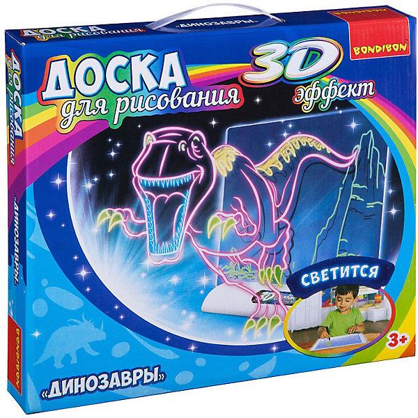 Купить Обучающая игра Bondibon Доска для рисования с 3D эффектом Динозавры, Китай, разноцветный, Унисекс
