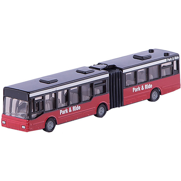 SIKU 1617 Автобус-гармошкаМашинки<br>SIKU (СИКУ) 1617 Автобус-гармошка<br><br>Корпус автобуса выполнен из металла, стёкла из прозрачной тонированной пластмассы, колёса выполнены из резины и вращаются. Сквозь прозрачные стекла игрушечного автобуса хорошо видны пассажирские сиденья и сиденье водителя с рулём. Автобус можно катать. Секции игрушечного автобуса соединены гармошкой и могут смещаться. <br><br>Дополнительная информация:<br>-Масштаб 1:55<br>-материал: металл с элементами пластмассы<br>-Размер игрушки: 16,0 x 2,8 x 3,4 см<br><br>Игрушечная модель автобуса гармошки отлично дополнит коллекцию миниатюр. Малышу понравится великолепно выполненный автобус, который можно катать и устроить путешествие по маленькому городу.<br><br>SIKU (СИКУ) 1617 Автобус-гармошка можно купить в нашем магазине.<br>Ширина мм: 197; Глубина мм: 81; Высота мм: 35; Вес г: 130; Возраст от месяцев: 36; Возраст до месяцев: 96; Пол: Мужской; Возраст: Детский; SKU: 1036971;