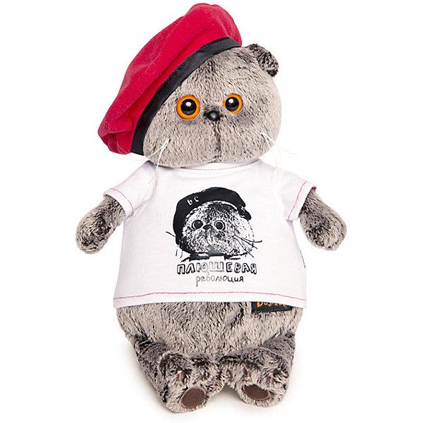 Budi Basa Мягкая игрушка Budi Basa Кот Басик в футболке с принтом Плюшевая революция, 30 см мягкая игрушка басик в пижаме 30 см
