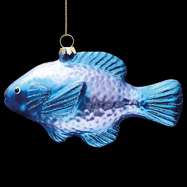 Erich Krause Украшение на ёлку ErichKrause Океанская рыбка 11 см, стекло украшение для интерьера новогоднее erich krause ангел музыки с гитарой 9 см