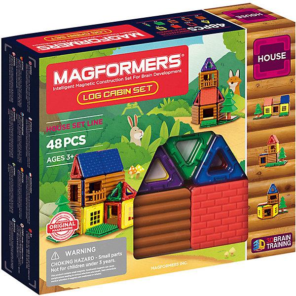 Купить Магнитный конструктор MAGFORMERS Log cabin set, 48 деталей, Китай, разноцветный, Унисекс