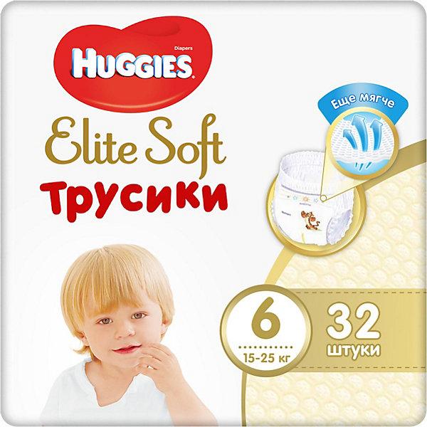 HUGGIES Трусики-подгузники Huggies Elite Soft 6, 16-22кг, 28 шт. huggies подгузники трусики annapurna размер 6 16 22кг 44шт для мальчиков