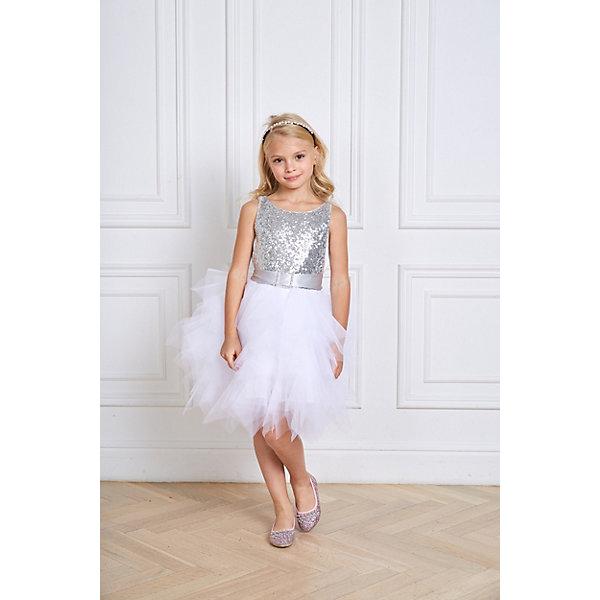 Купить Платье Choupette для девочки, Россия, серый, 128, 110, 104, 122, 98, 116, Женский