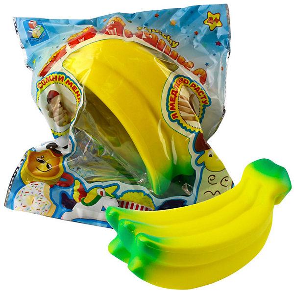 Купить Игрушка-антистресс 1Toy Мммняшка Гроздь бананов, Китай, желтый, Унисекс