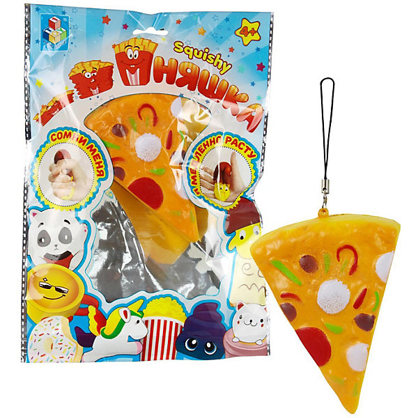 Купить Игрушка-антистресс 1Toy Мммняшка Пицца, Китай, разноцветный, Унисекс