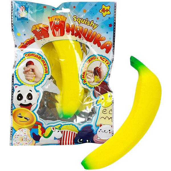 Купить Игрушка-антистресс 1Toy Мммняшка Банан, Китай, желтый, Унисекс