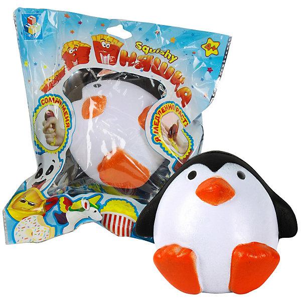 Фото - 1Toy Игрушка-антистресс 1Toy Мммняшка Сидящий пингвин антистрессовая игрушка 1toy м м мняшка банан в карамели полимер