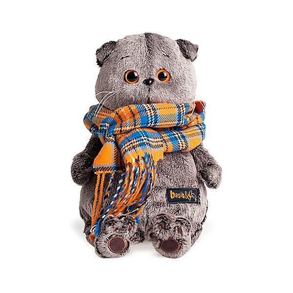 Budi Basa Мягкая игрушка Budi Basa Кот Басик и шарф в клеточку, 30 см мягкая игрушка басик в пижаме 30 см