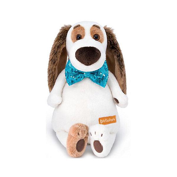 цены Budi Basa Мягкая игрушка Budi Basa Собака Бартоломей в галстуке-бабочке в пайетках, 27 см