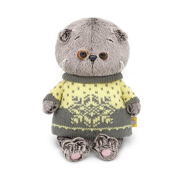 Купить Мягкая игрушка Budi Basa Кот Басик Baby в свитере, 20 см, Россия, коричневый, Унисекс