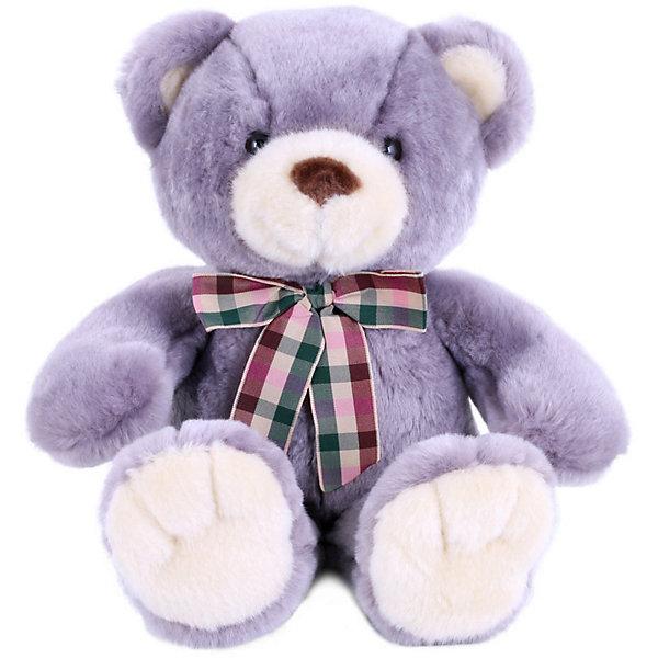 Softoy Мягкая игрушка Медведь, лавандовый, 32 см