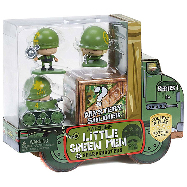 Awesome Little Green Men Набор игровых фигурок Awesome Little Green Men, 4 фигурки