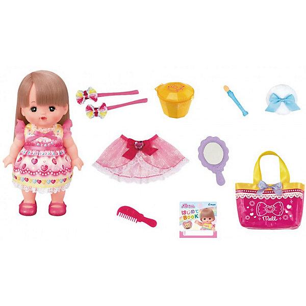 Кукла Kawaii Mell Милая Мелл Большой набор для макияжаИдеи подарков<br>Характеристики товара:<br><br>• материал: пластик, текстиль<br>• в комплекте: кукла, различные аксессуары<br>• серия: Милая Мелл<br>• высота куклы: 26 см<br>• меняет цвет волос<br>• упаковка: картонная коробка<br>• вес в упаковке: 910 гр<br>• размер упаковки: 38х11х29 см<br>• страна бренда: Япония<br><br>Куколка Мелл может менять цвет волос на розовый в тёплой воде. Но это ещё не все волшебные особенности игрушки. При помощи льда и аппликатора малышке можно сделать макияж на щёчках и накрасить ногти. При высыхании всё возвращается в обычный цвет. Также ей можно делать различные причёски и менять наряд. Набор выполнен из качественных и безопасных материалов.