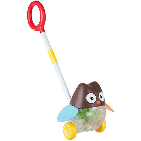 Bondibon Игрушка-каталка с ручкой Сова