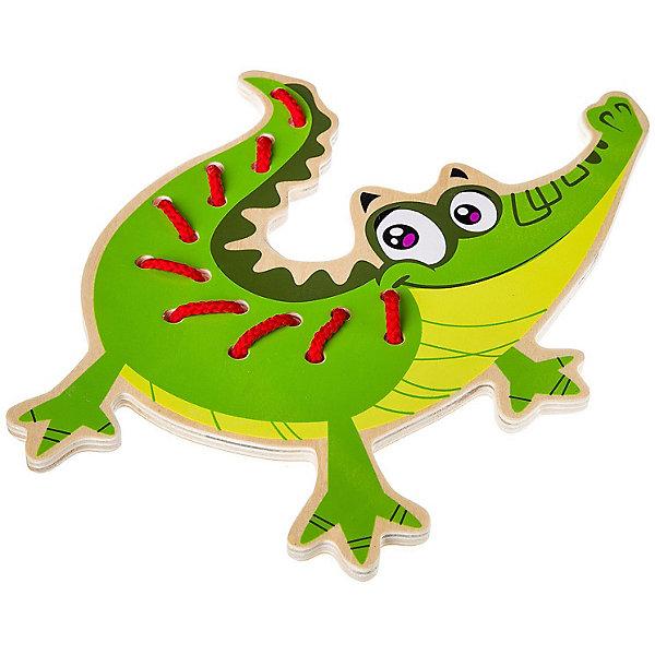 Bondibon Шнуровка Bondibon Baby You Крокодил шнурок белый 45 49 см текстиль